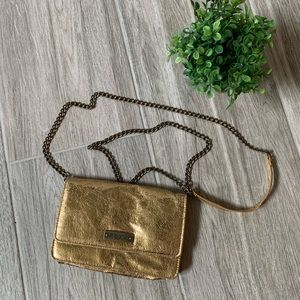 Roxy Foiled Gold Crossbody Purse